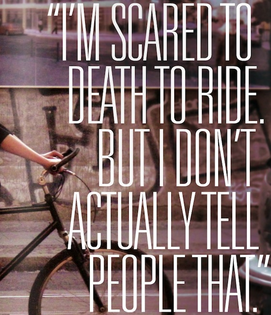 Im scared to death to ride